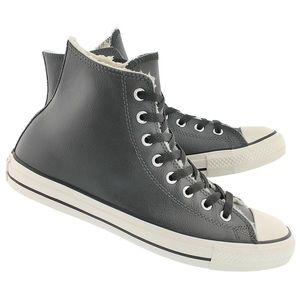 Converse Chuck Taylor Sherpa Leather High Tops